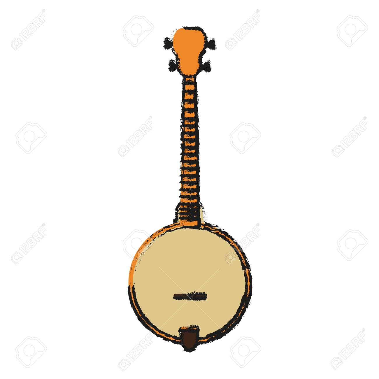 Guitar icon of instrument music and sound theme Isolated design