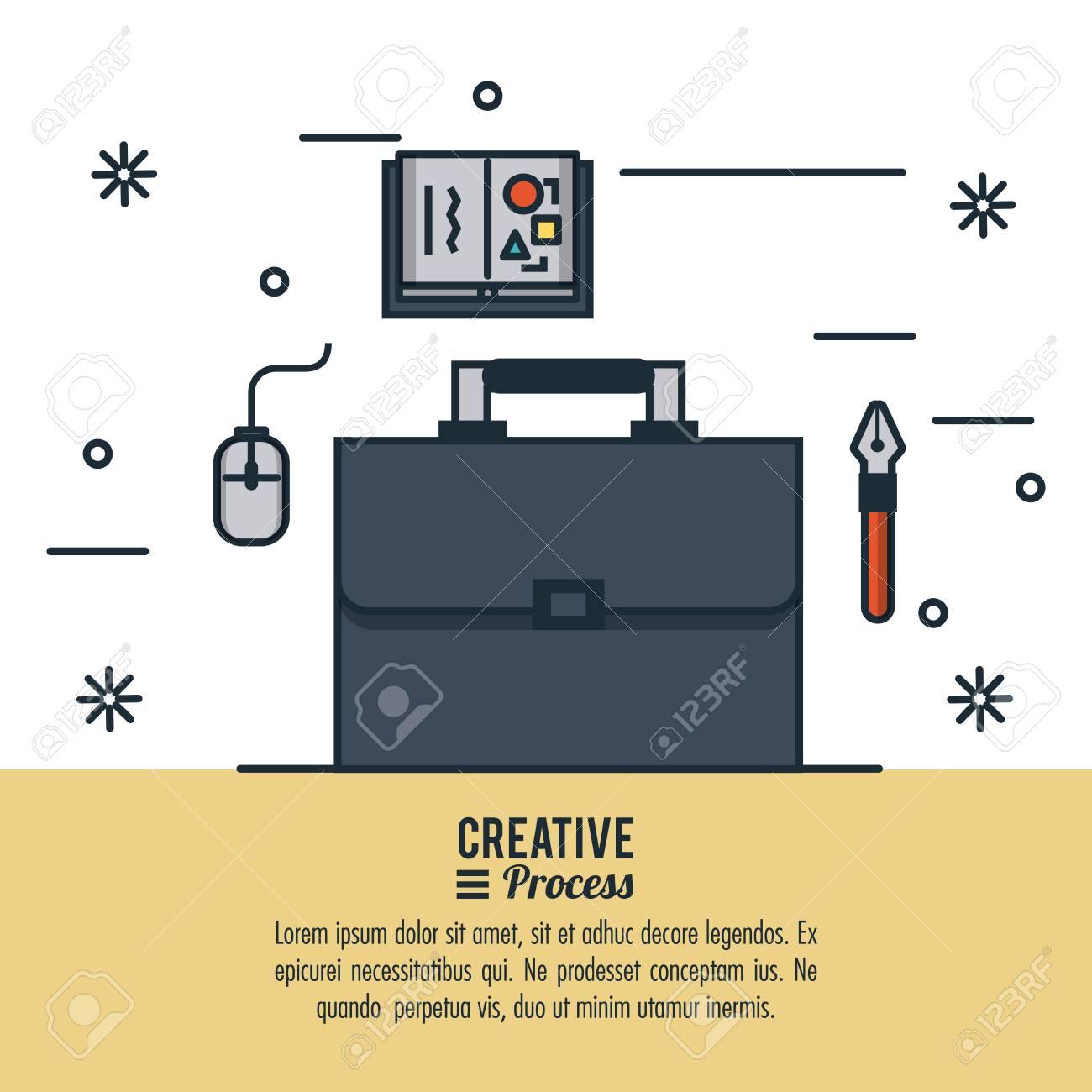 Creative process infographic icon vector illustration graphic..