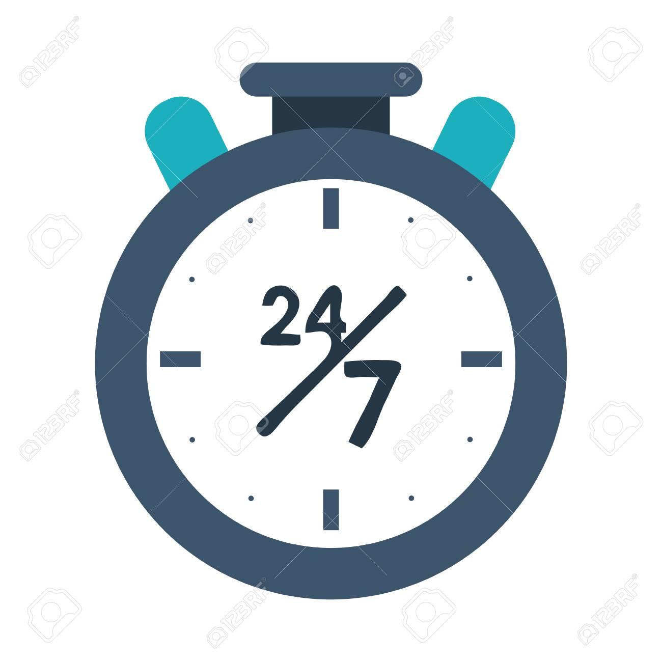 24 7 chronometer icon image vector illustration design - 85758960