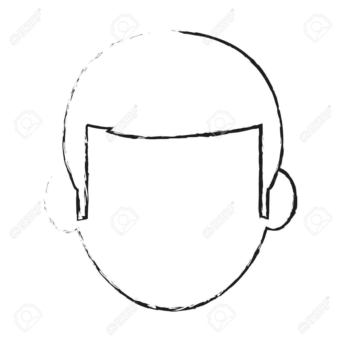 Icône De Profil Sans Visage De L Homme