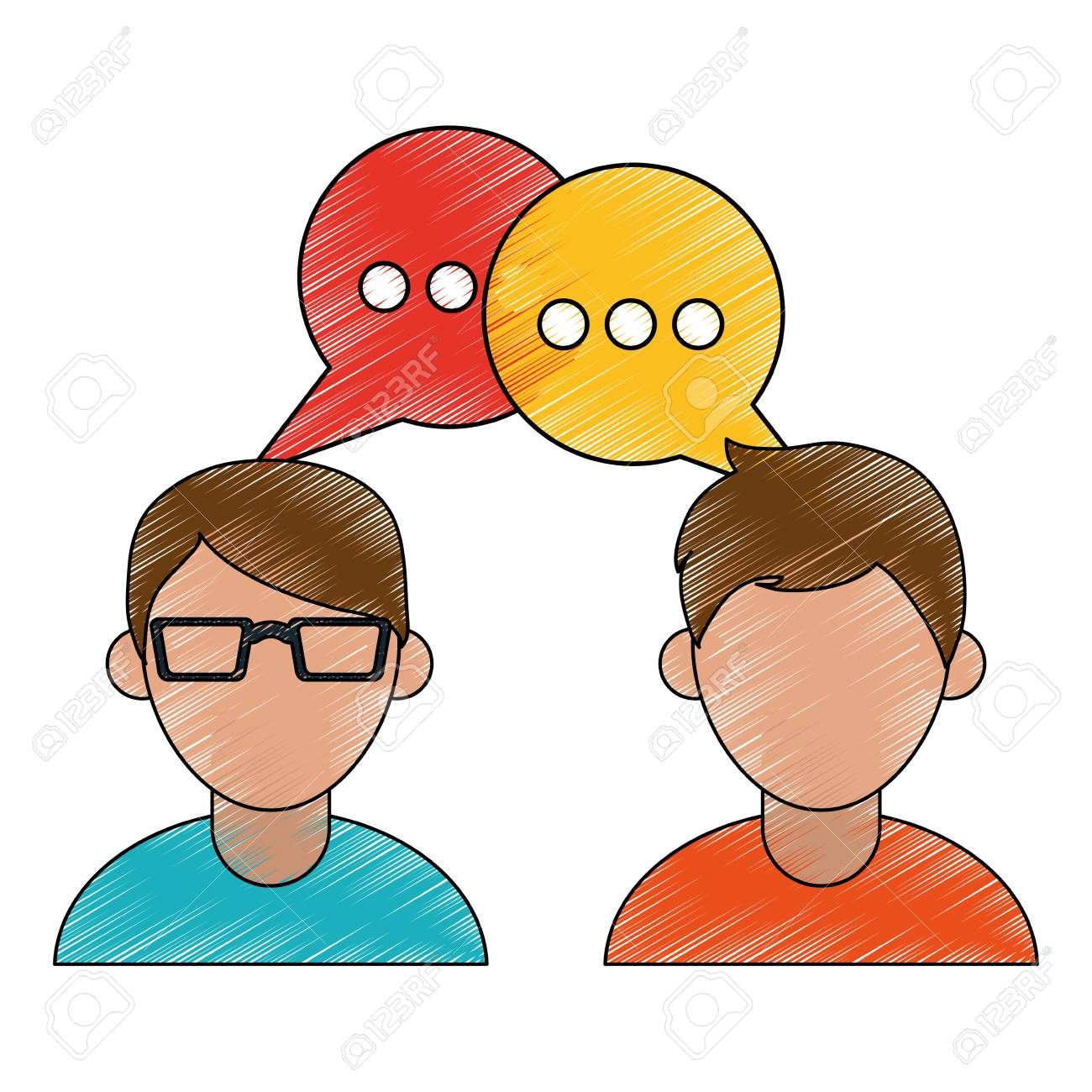 People Talking Cartoon Icon Vector Illustration Graphic Design