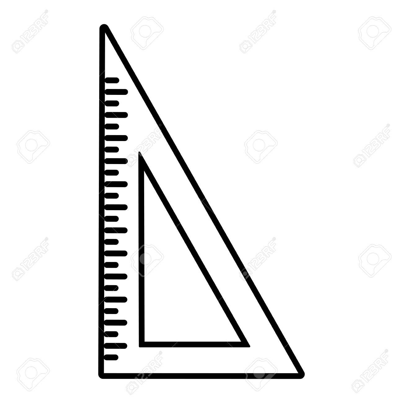 三角定規アイコン画像ベクトル イラスト デザインのイラスト素材ベクタ
