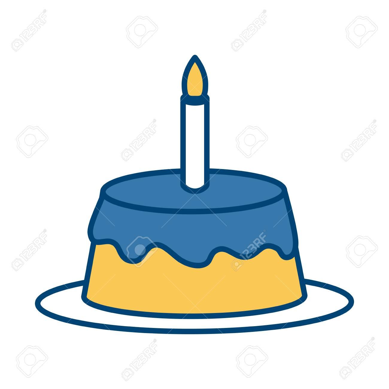 Birthday Cake Isolated Icon Vector Illustration Graphic Design