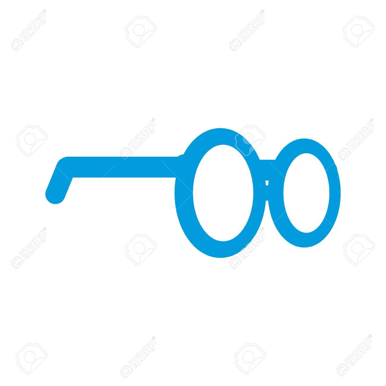 Nerd Glasses Symbol Icon Vector Illustration Graphic Design Royalty