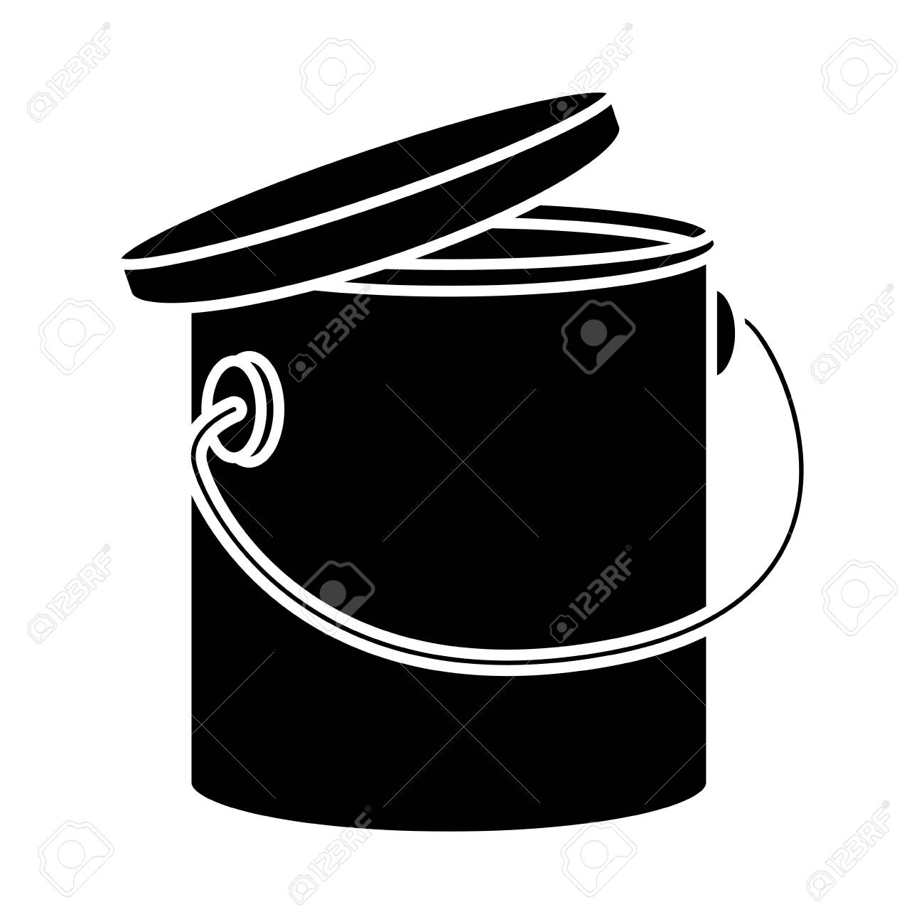 Paint Bucket Isolated Icon Vector Illustration Graphic Design Royalty Free Cliparts Vectors And Stock Illustration Image 86423590
