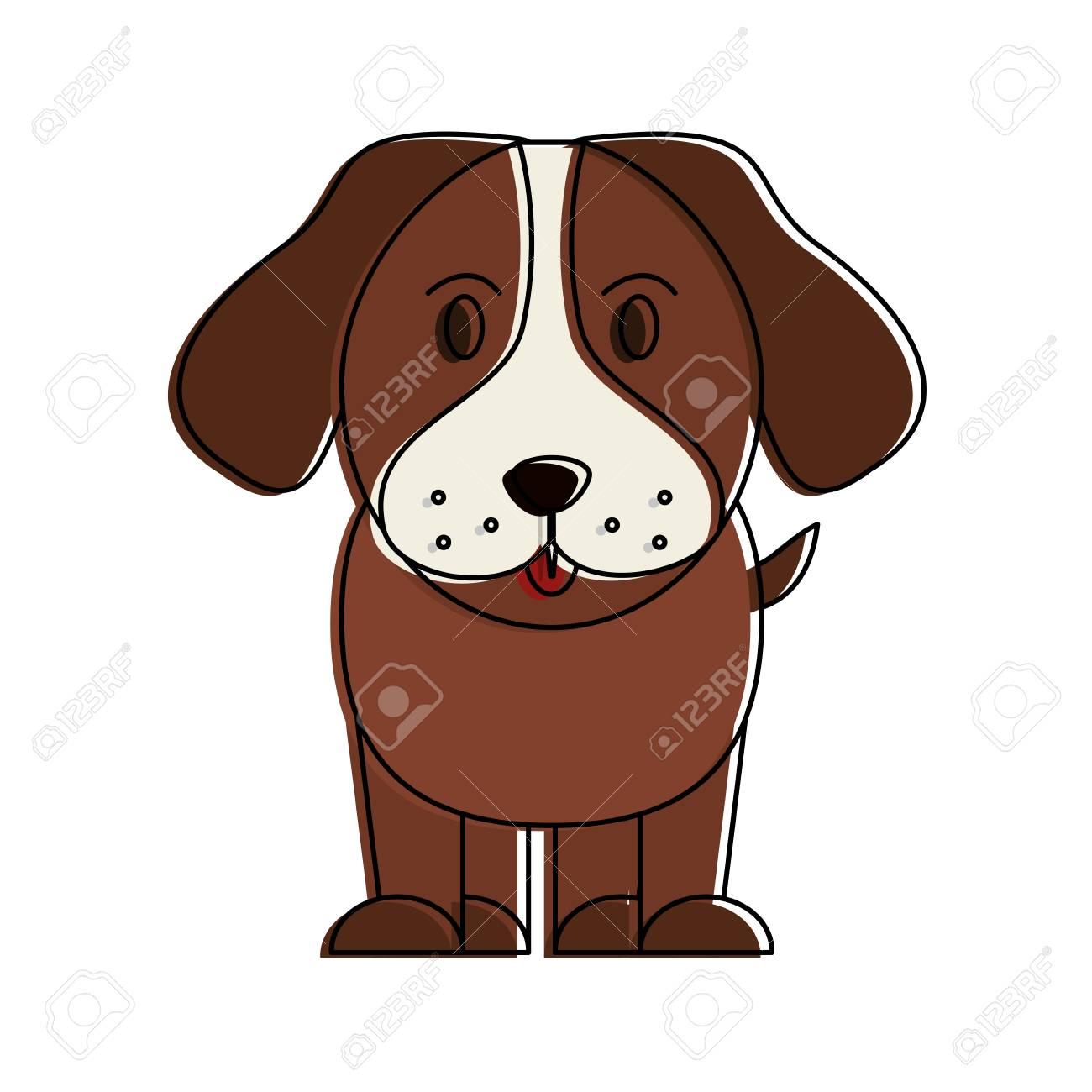 犬ペットの顔アイコン画像ベクトル イラスト デザインのイラスト素材