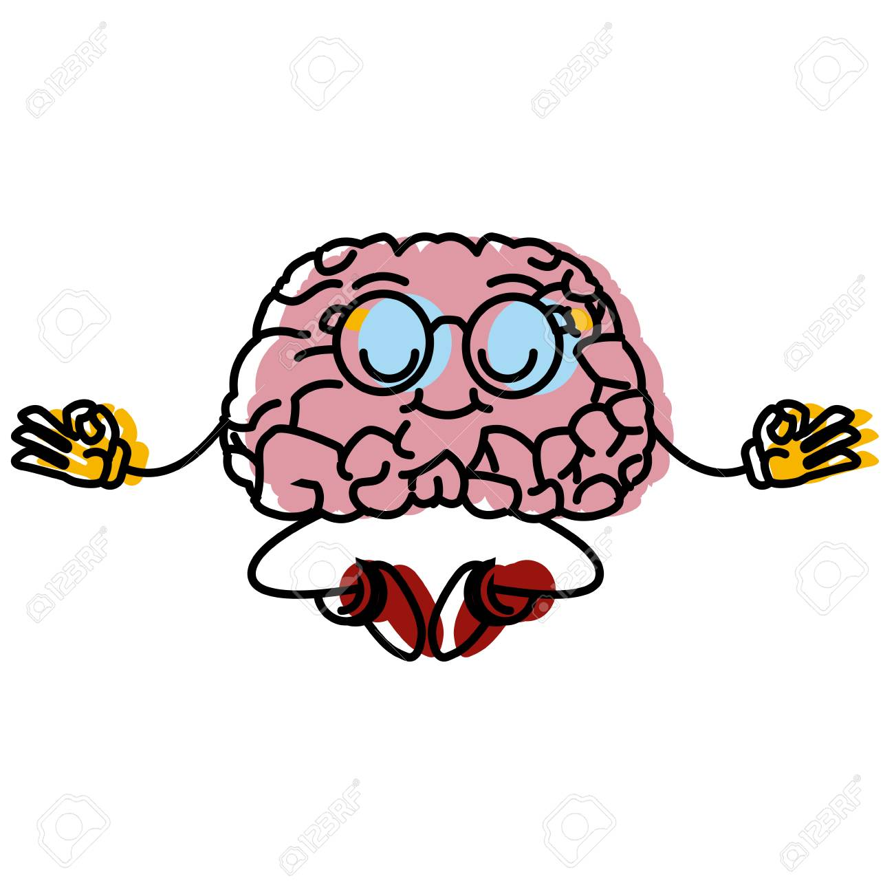 cute brain meditating cartoon icon vector illustration graphic royalty free cliparts vectors and stock illustration image 87465402 cute brain meditating cartoon icon vector illustration graphic