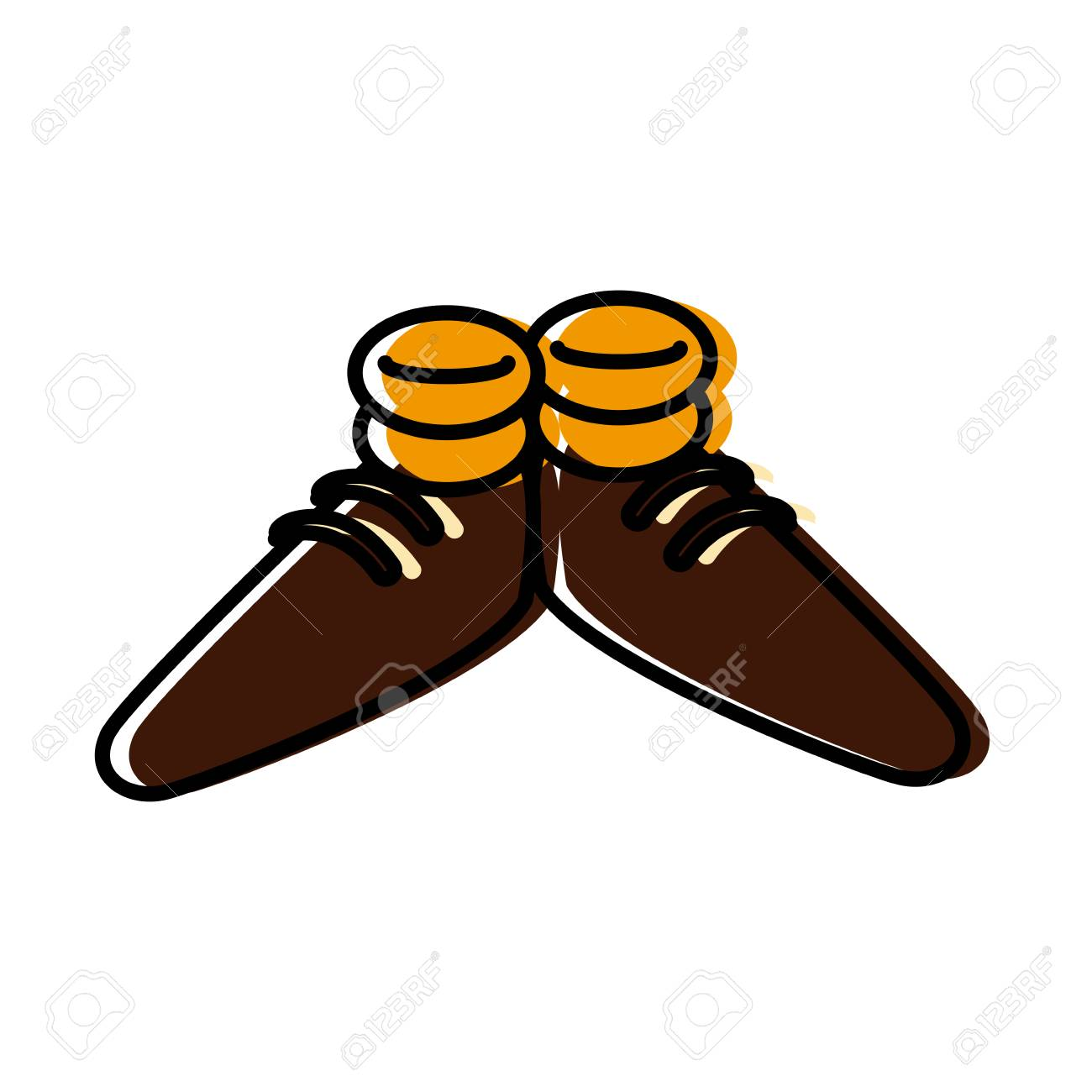 Funny Shoes Cartoon Icon Vector Illustration Graphic Design Royalty