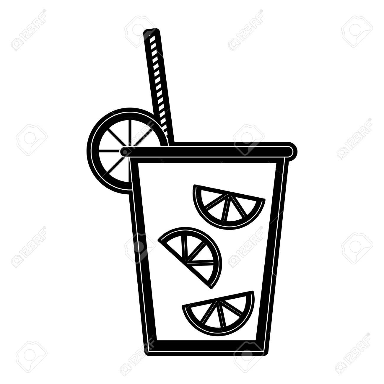 lemonade fruit juice icon image vector illustration design black royalty free cliparts vectors and stock illustration image 87669697 lemonade fruit juice icon image vector illustration design black
