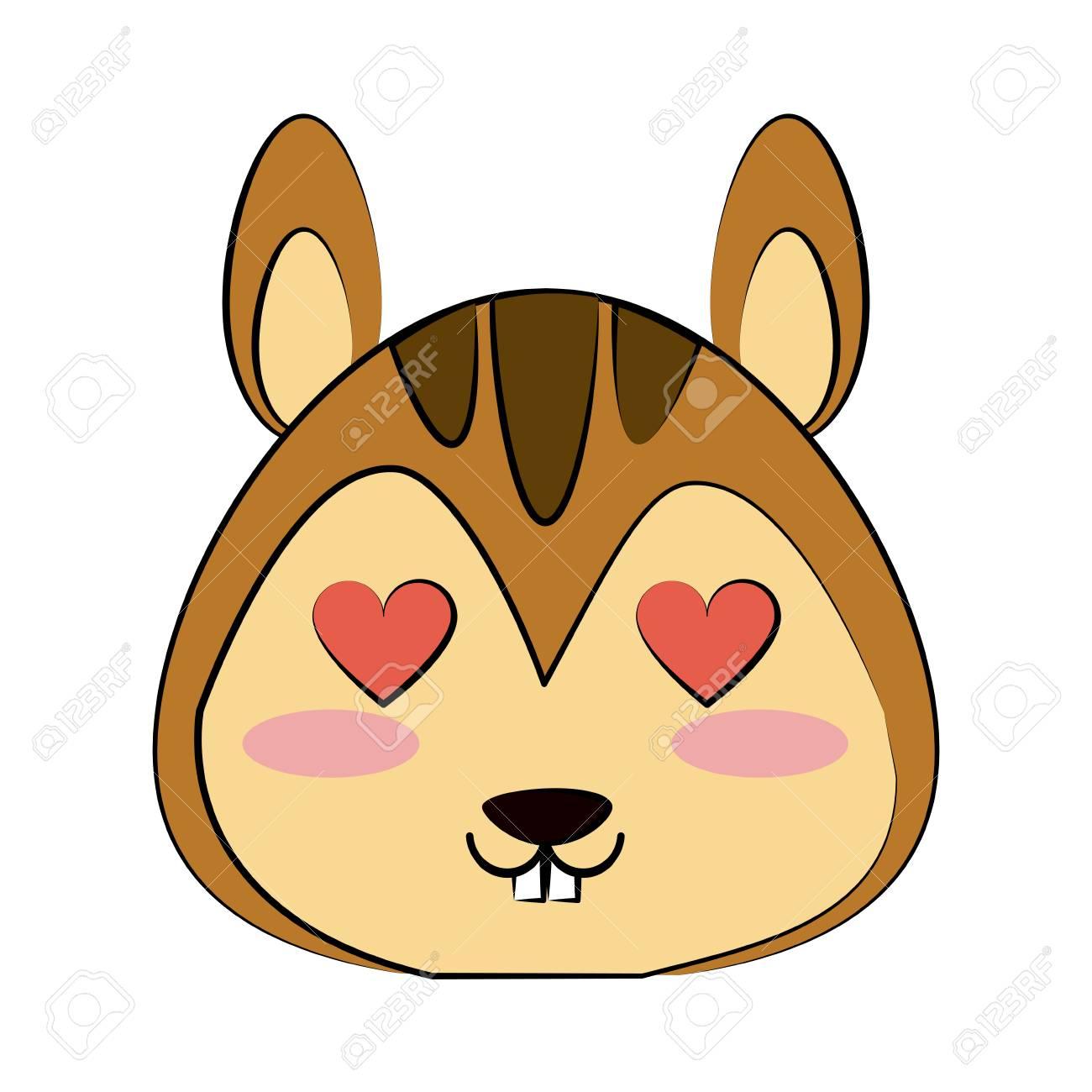 心の目かわいい動物漫画アイコン画像ベクトル イラスト デザインとリスし