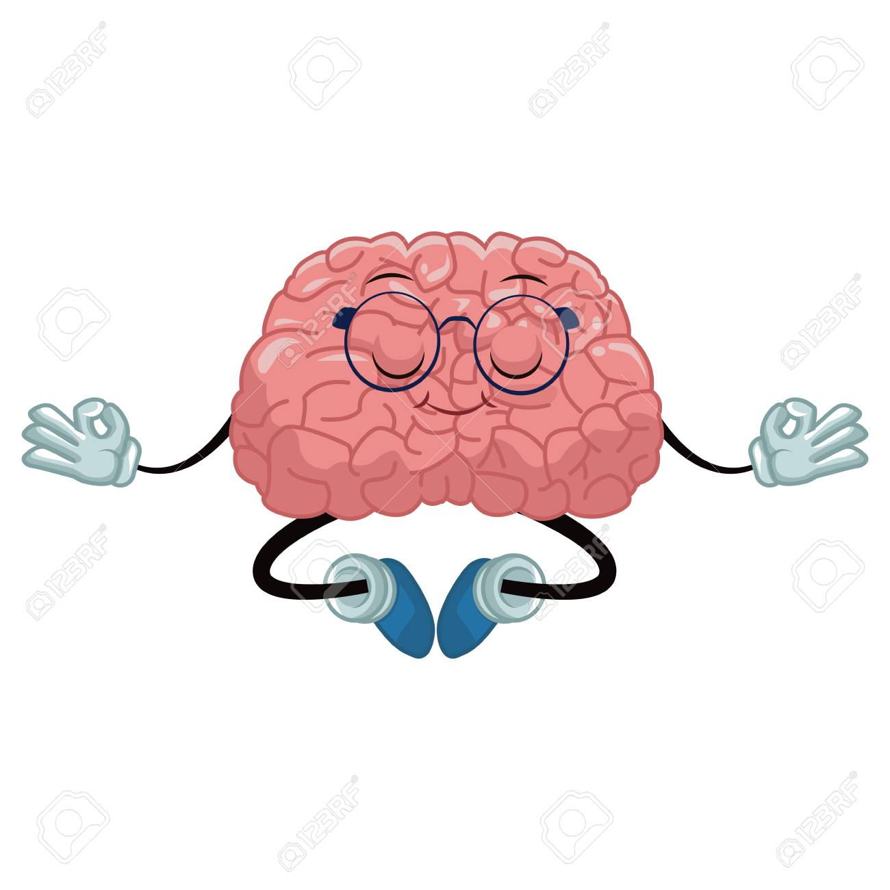 cute brain meditating cartoon icon vector illustration graphic royalty free cliparts vectors and stock illustration image 87905541 cute brain meditating cartoon icon vector illustration graphic