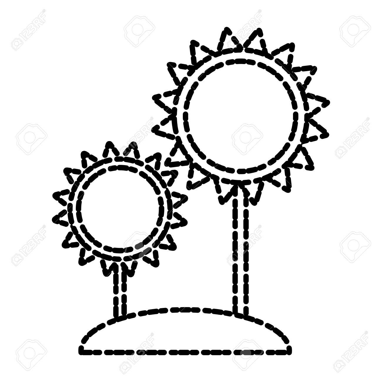 Sunflowers Gardening Symbol Icon Vector Illustration Graphic