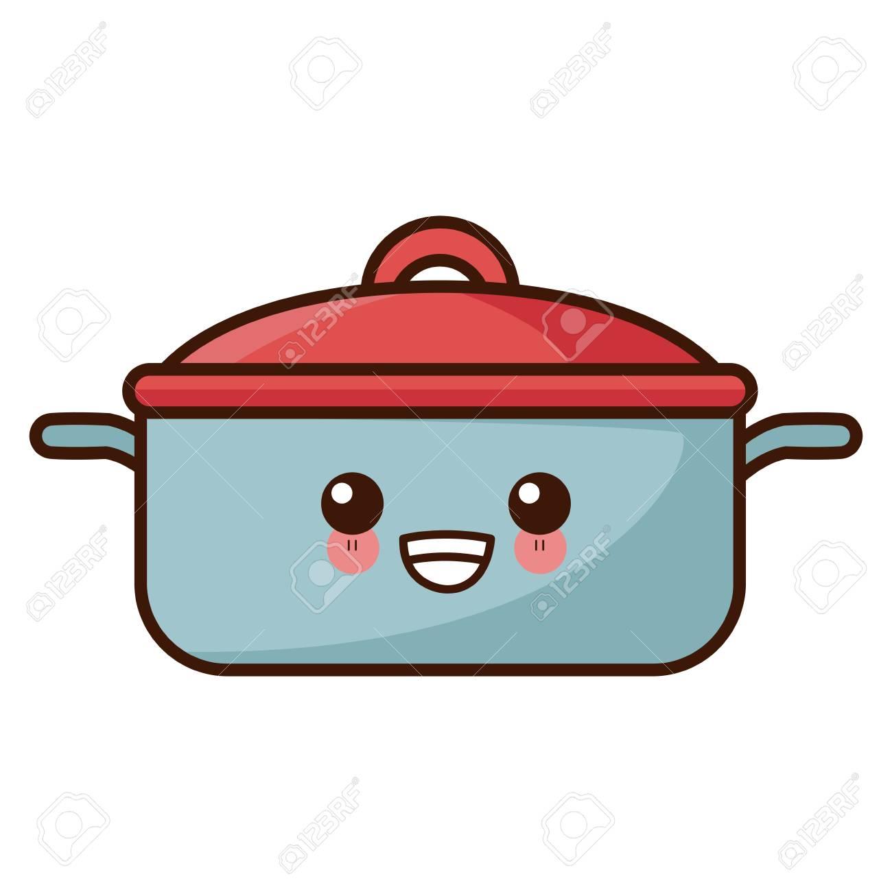 Pot Kitchen Utensil Cute Cartoon Illustration Royalty Free Cliparts Vectors And Stock Illustration Image 88234374