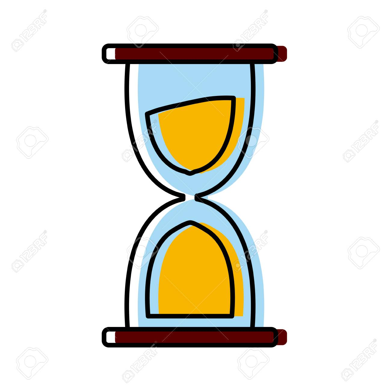 hourglass sand timer icon clip art design illustration royalty free rh 123rf com hourglass shape clipart hourglass shape clipart