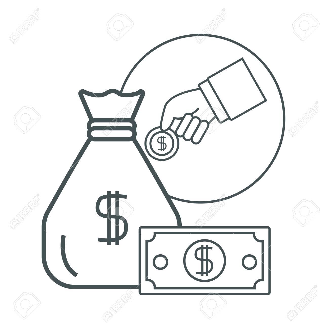 Money Certificate Of Deposit Icon Vector Illustration Graphic