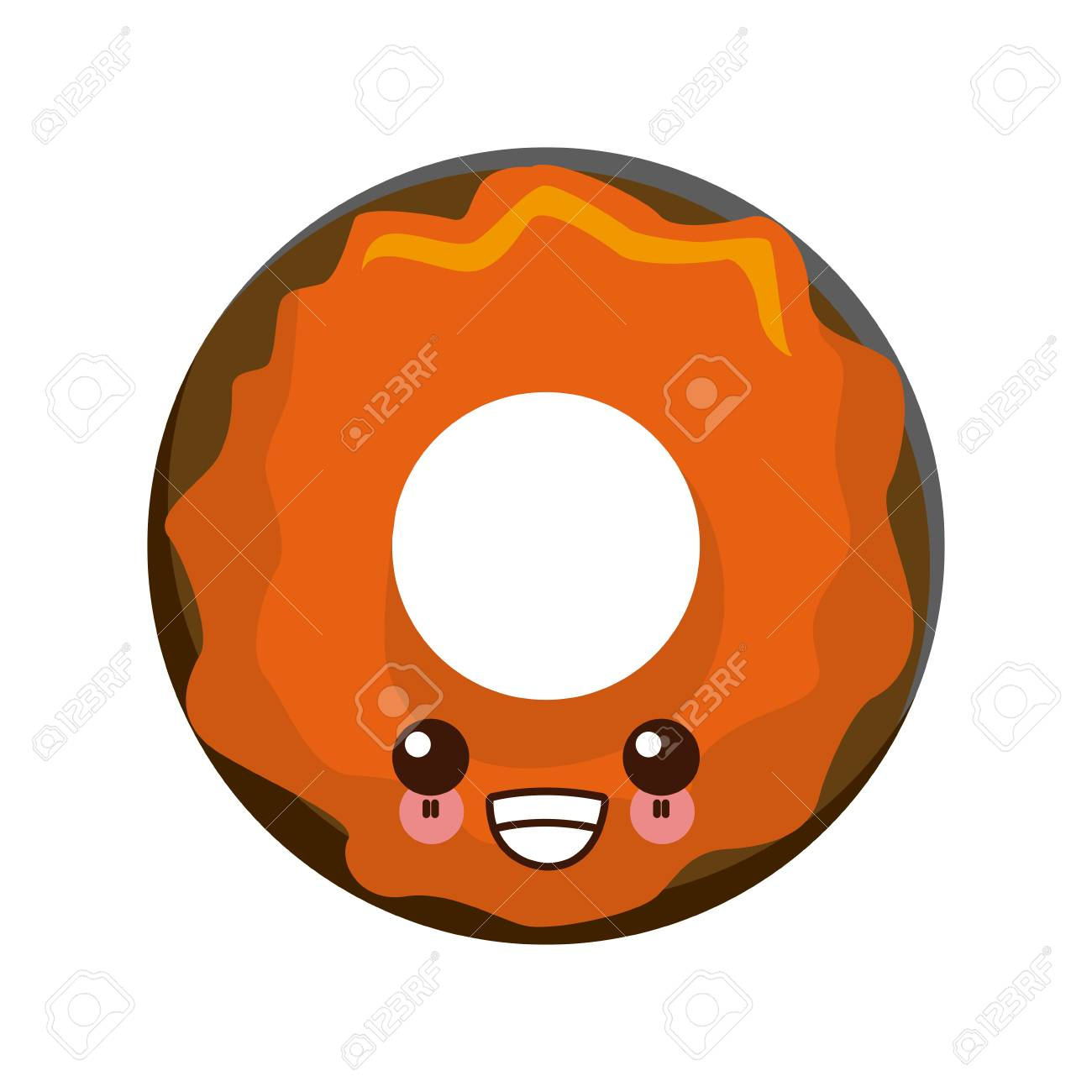 Delicious Donut Dessert Cute Cartoon Vector Illustration