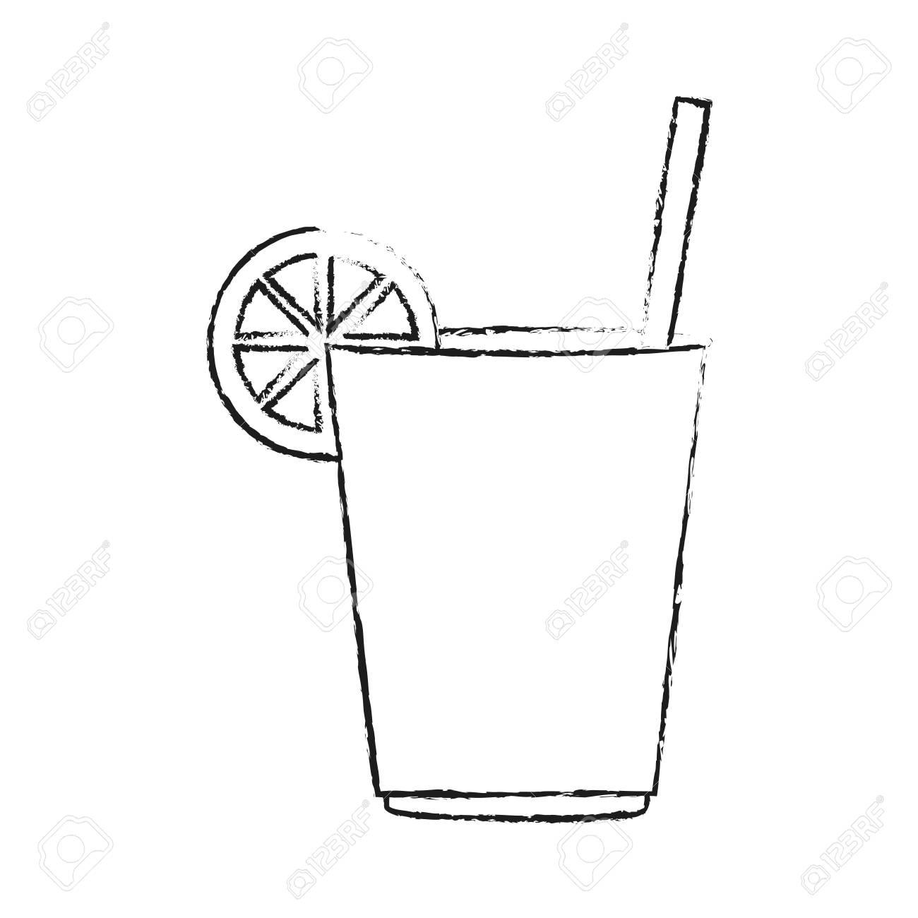 Delicious lemonade cup icon vector illustration graphic design