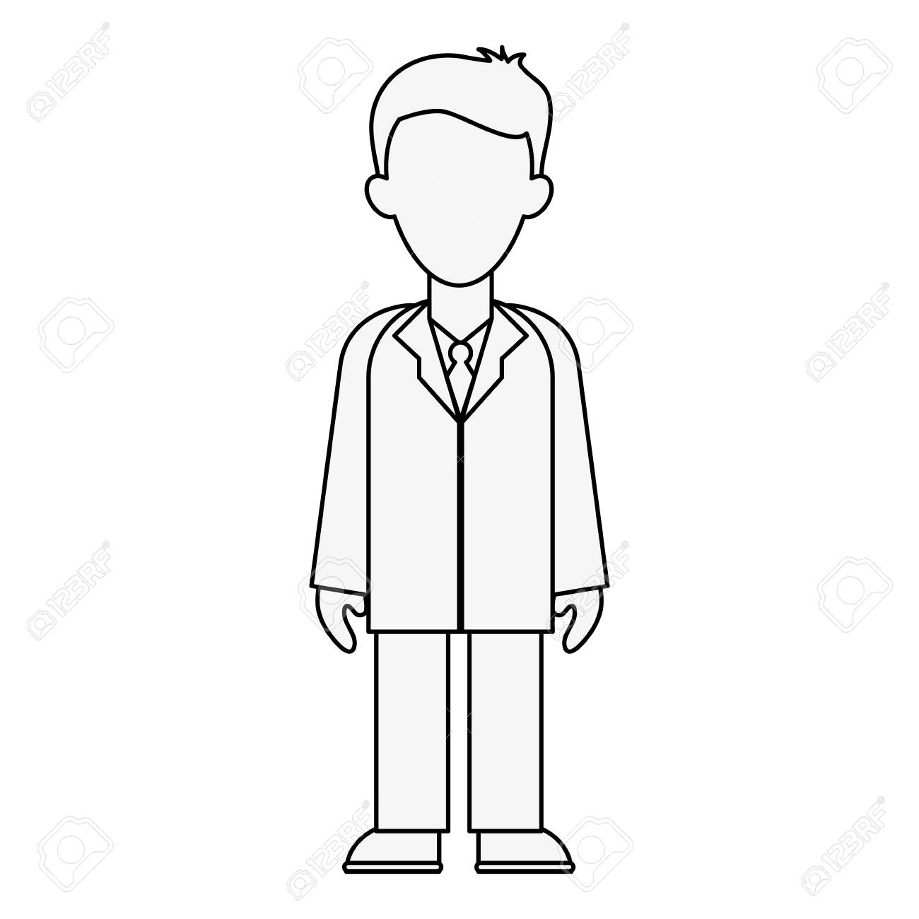 Doctor avatar full body icon image vector illustration design
