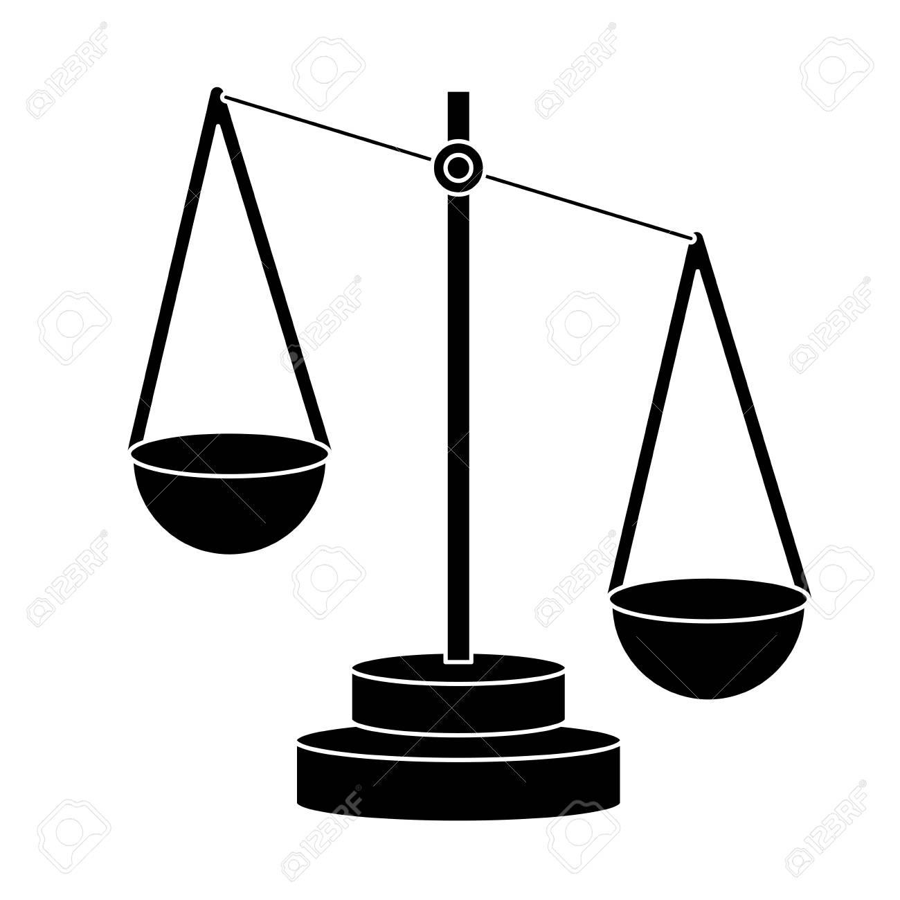 Balance Justice justice balance symbol icon vector illustration graphic design