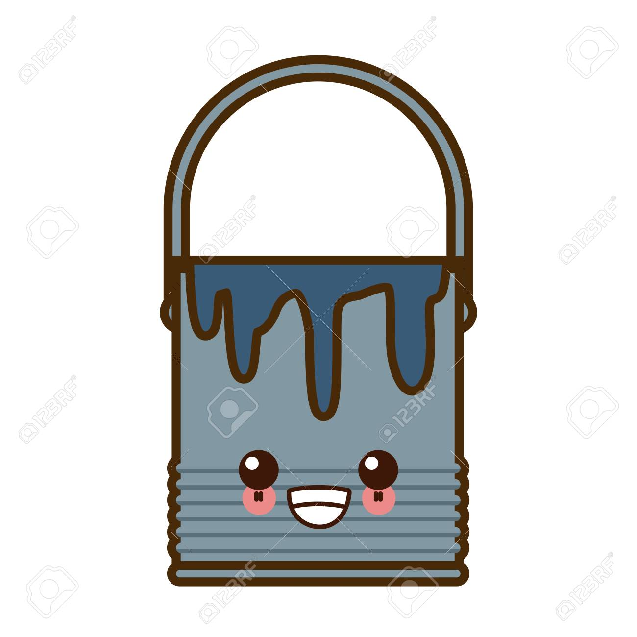 Paint Bucket Isolated Cute Cartoon Vector Illustration Graphic Royalty Free Cliparts Vectors And Stock Illustration Image 88982443