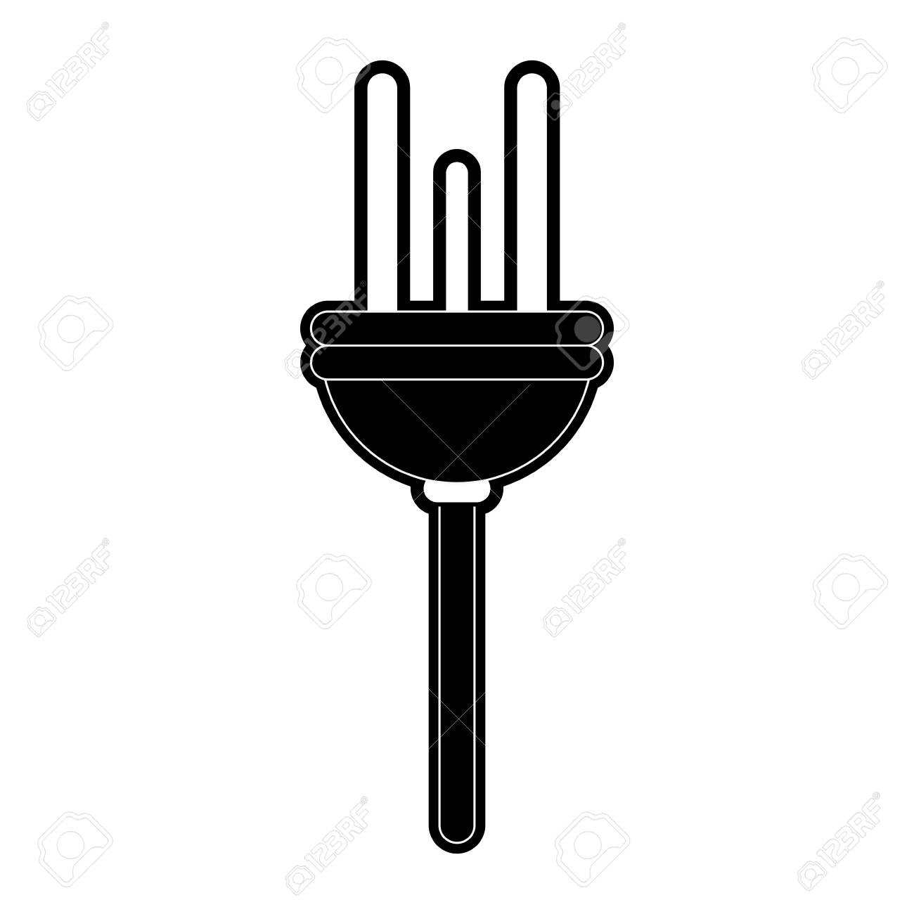 Electric Wire Energy Icon Vector Illustration Graphic Design Royalty ...
