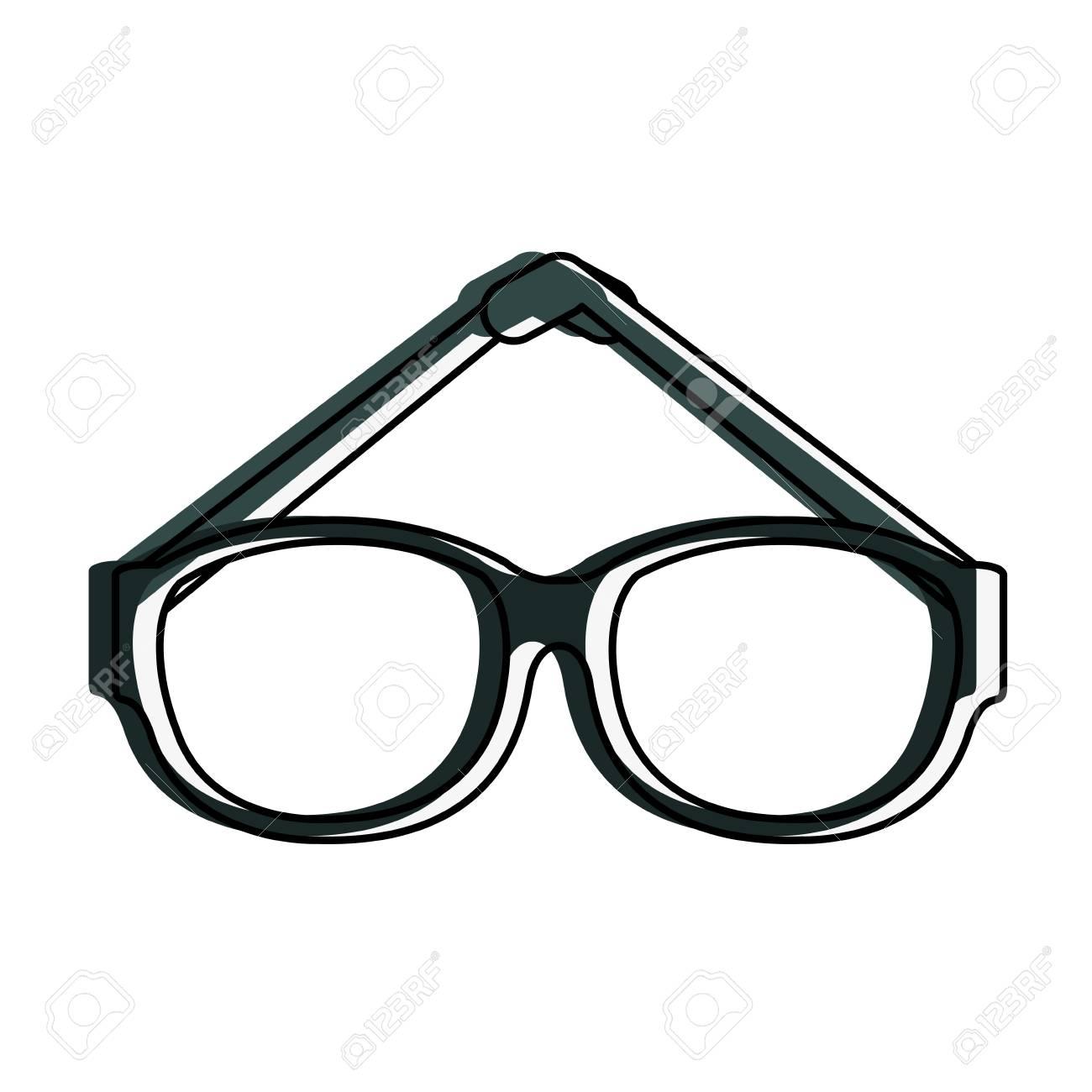 ファッション レンズ眼鏡アイコン ベクトル イラスト グラフィック