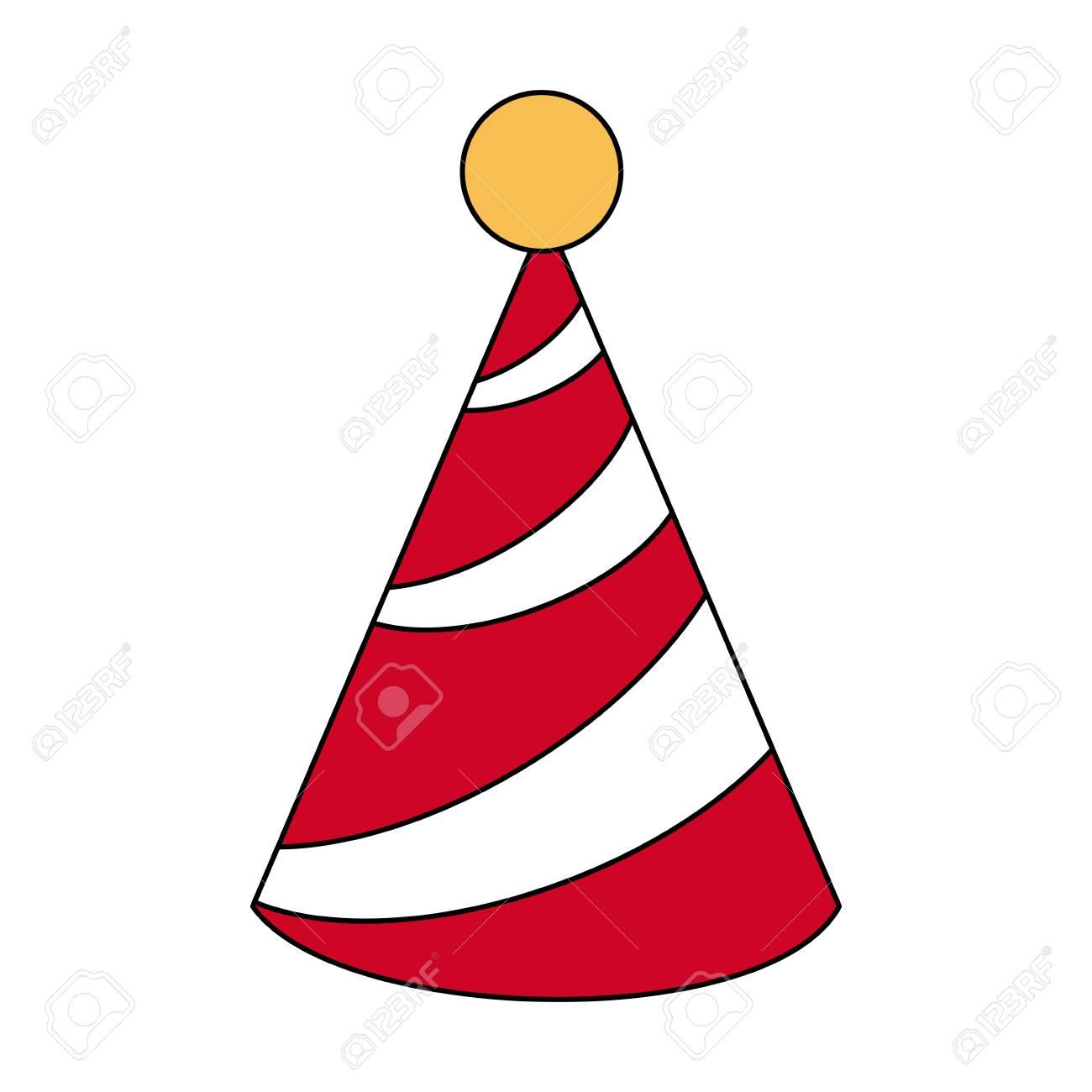 Birthday Hat Symbol Icon Vector Illustration Graphic Design Royalty