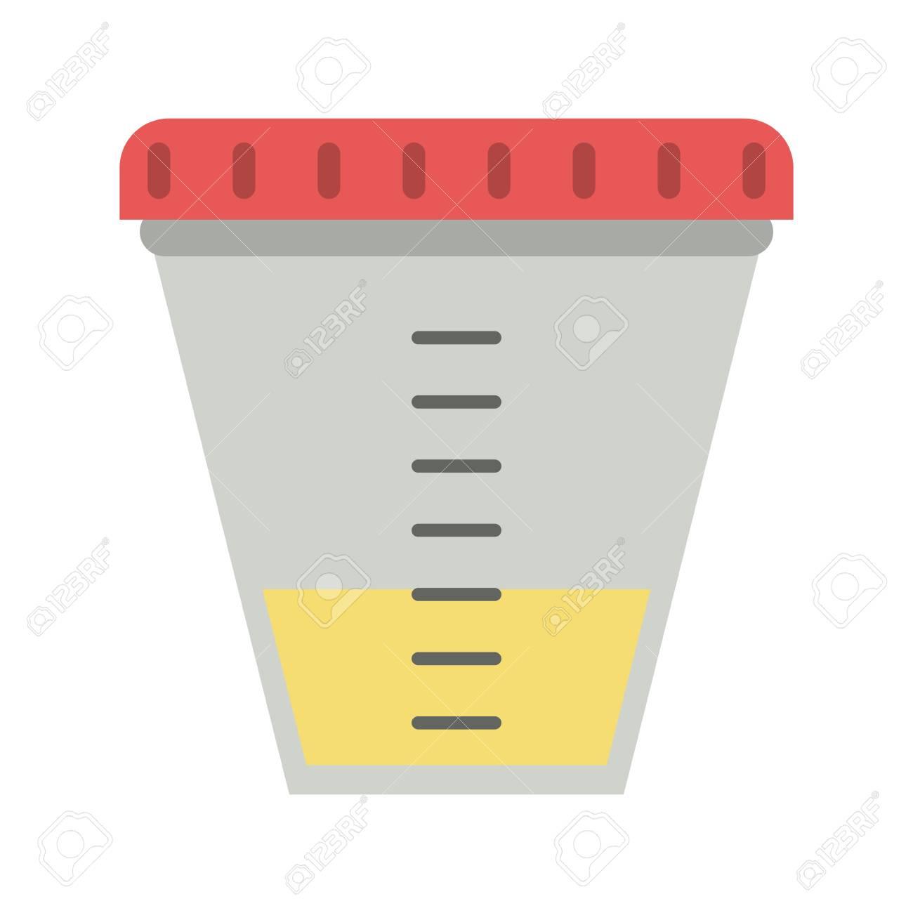 urine test container icon vector illustration graphic design rh 123rf com