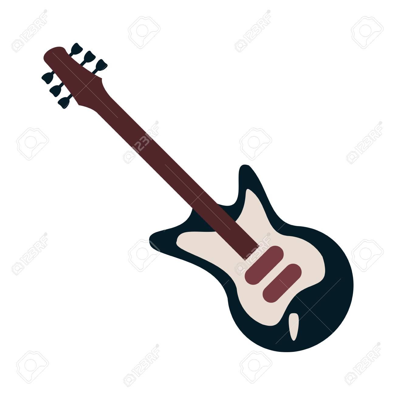 electric guitar instrument icon vector illustration graphic design rh 123rf com  guitar vectoriel