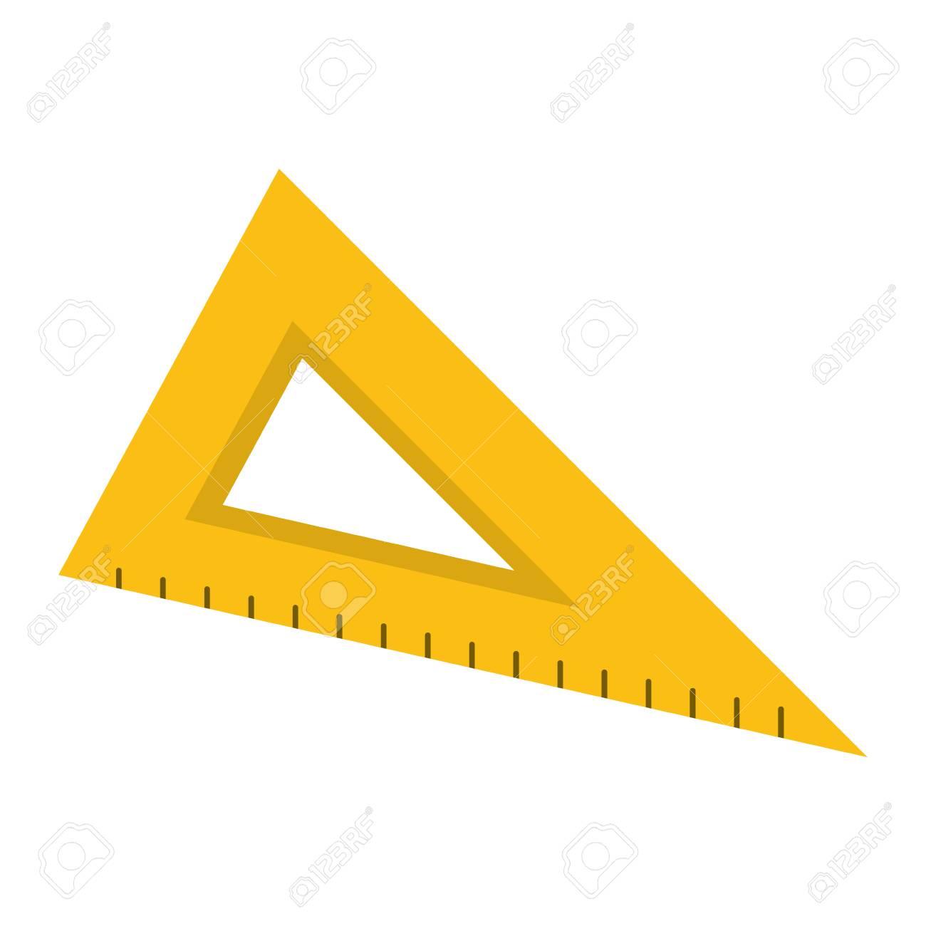 学校三角定規アイコン ベクトル イラスト グラフィック デザインの