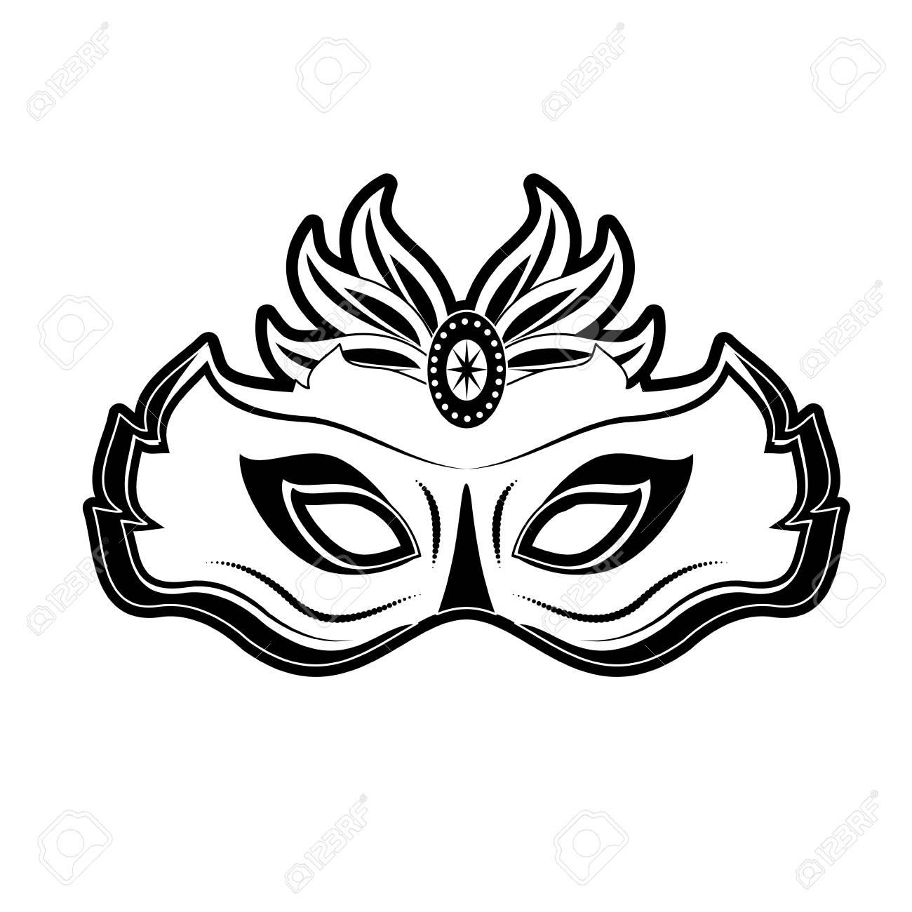 Mardi Gras Mask Icon Vector Illustration Graphic Design Royalty ...