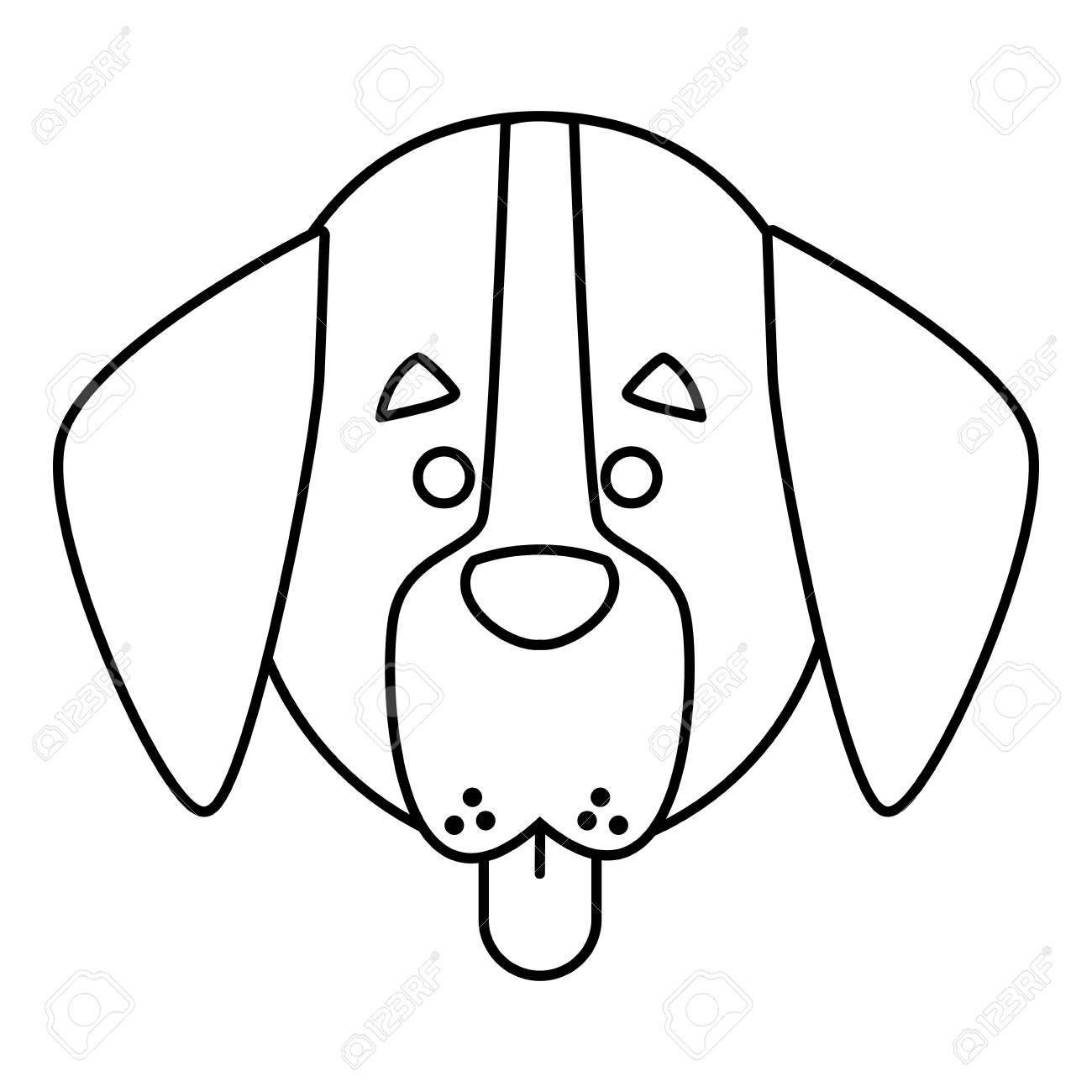 Dog Head Cartoon Icon Vector Illustration Graphic Design Royalty