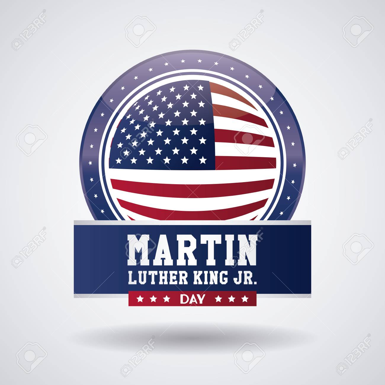 Martin Luther King Jr Day Icon Vector Illustration Graphic Royalty