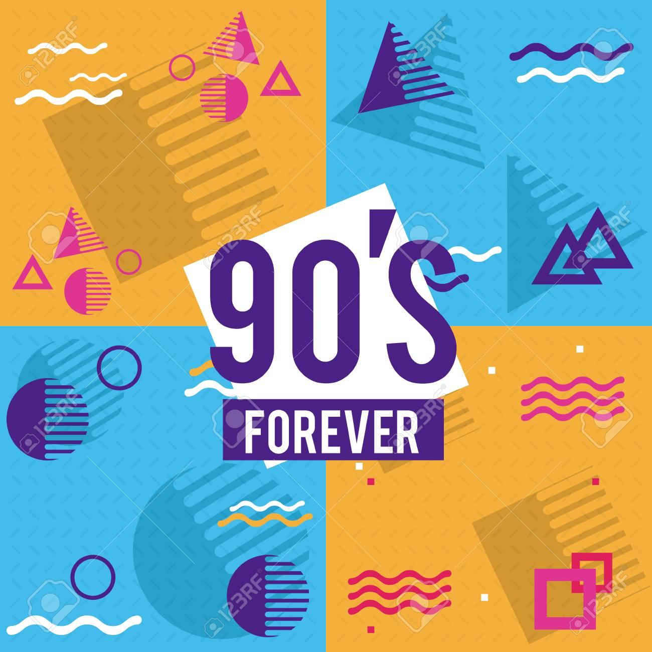 90s forever design icon vector illustration graphic design