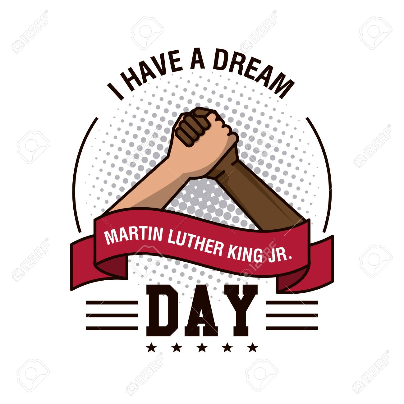 martin luther king jr day icon vector illustration graphic royalty rh 123rf com