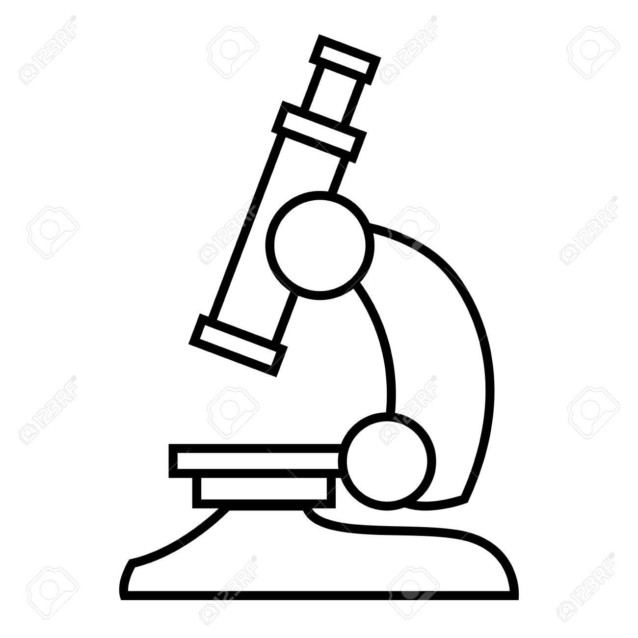 Microscope Scientific Tool Icon Vector Illustration Graphic Design Stock