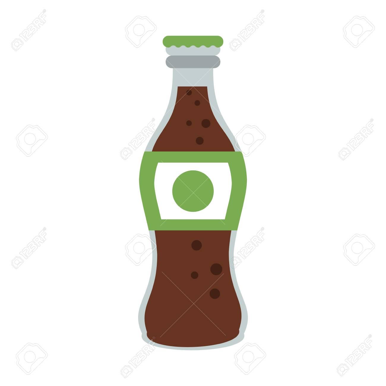 bouteille de verre soda icône vector illustration design graphique