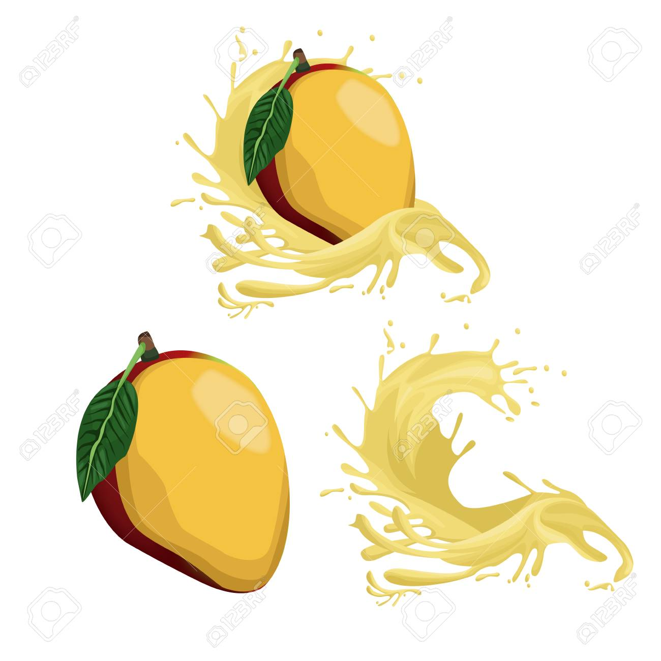 mango fruit splash icon vector illustration graphic design royalty rh 123rf com