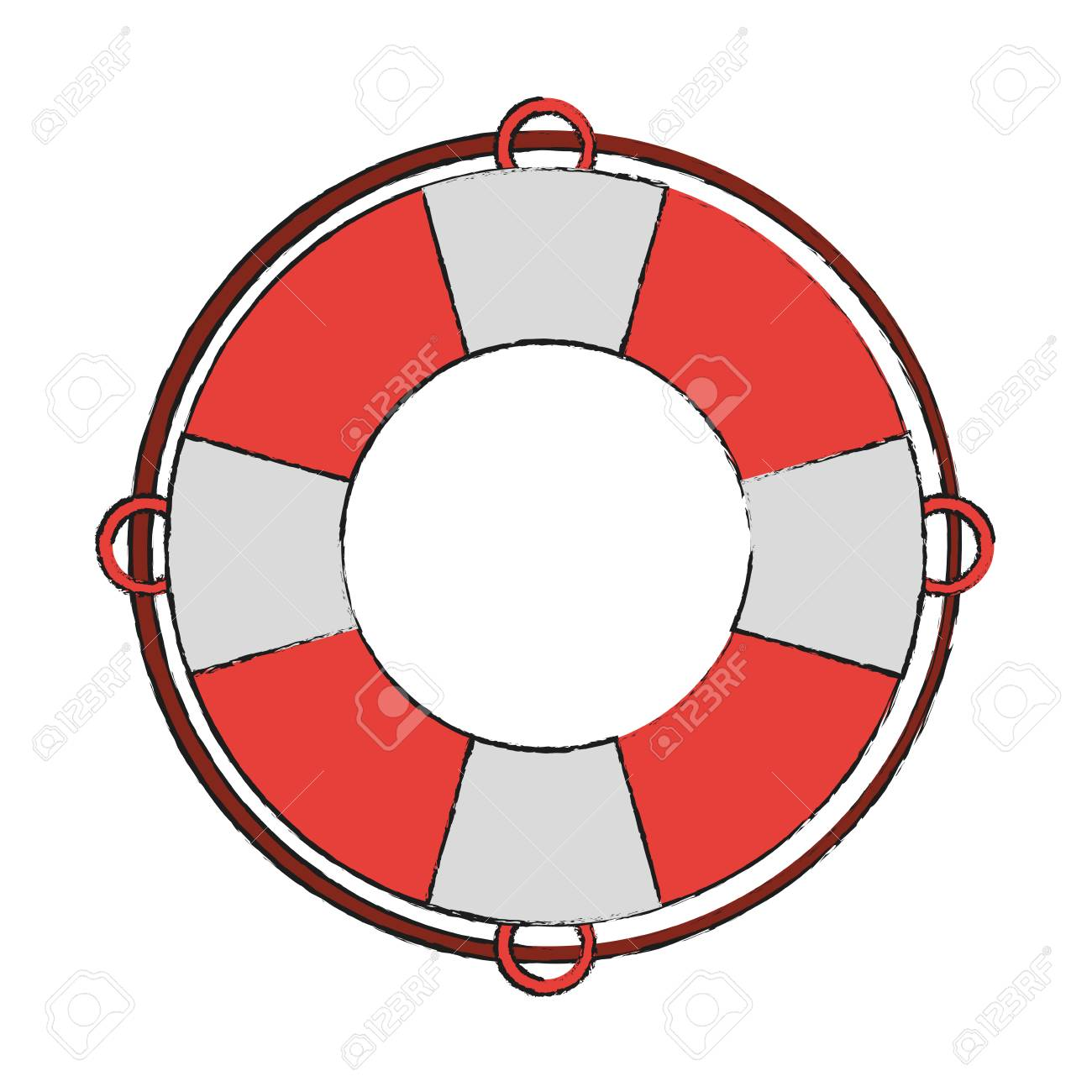lifesaver boat symbol icon vector illustration graphic design