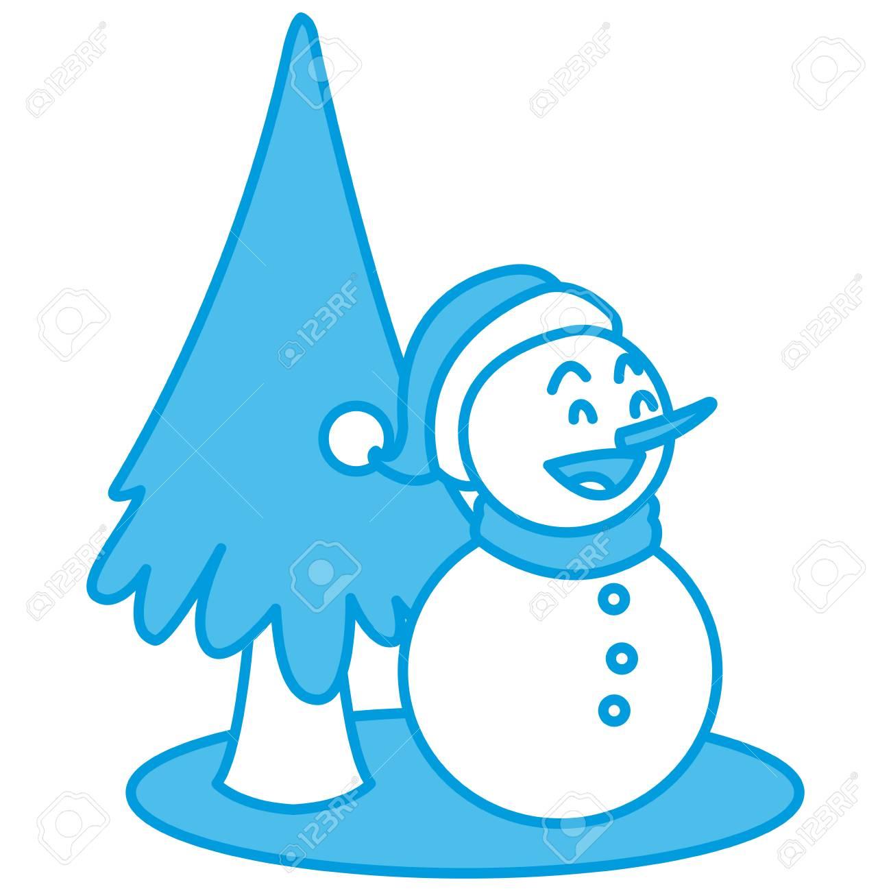 Bonhomme Graphique bonhomme de neige noël dessin animé icône vector illustration design