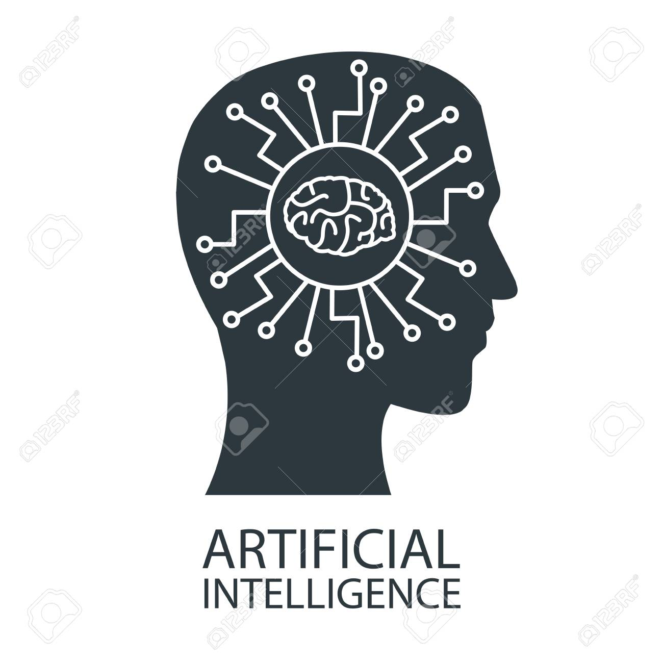 Robot Artificial Intelligence Icon Vector Illustration Graphic ...