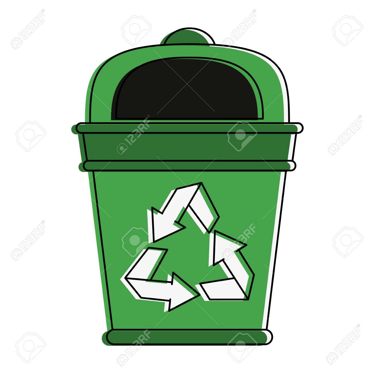 Trash Recycle Bin Icon Symbol Vector