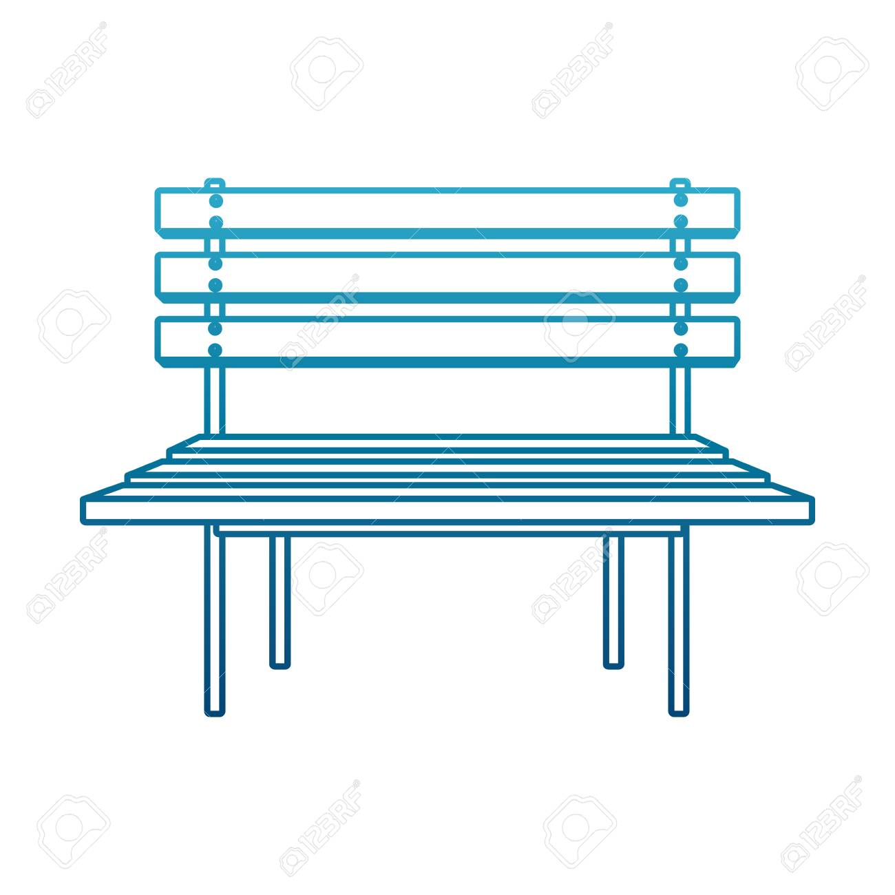 Vector wooden park chair icon vector illustration graphic design