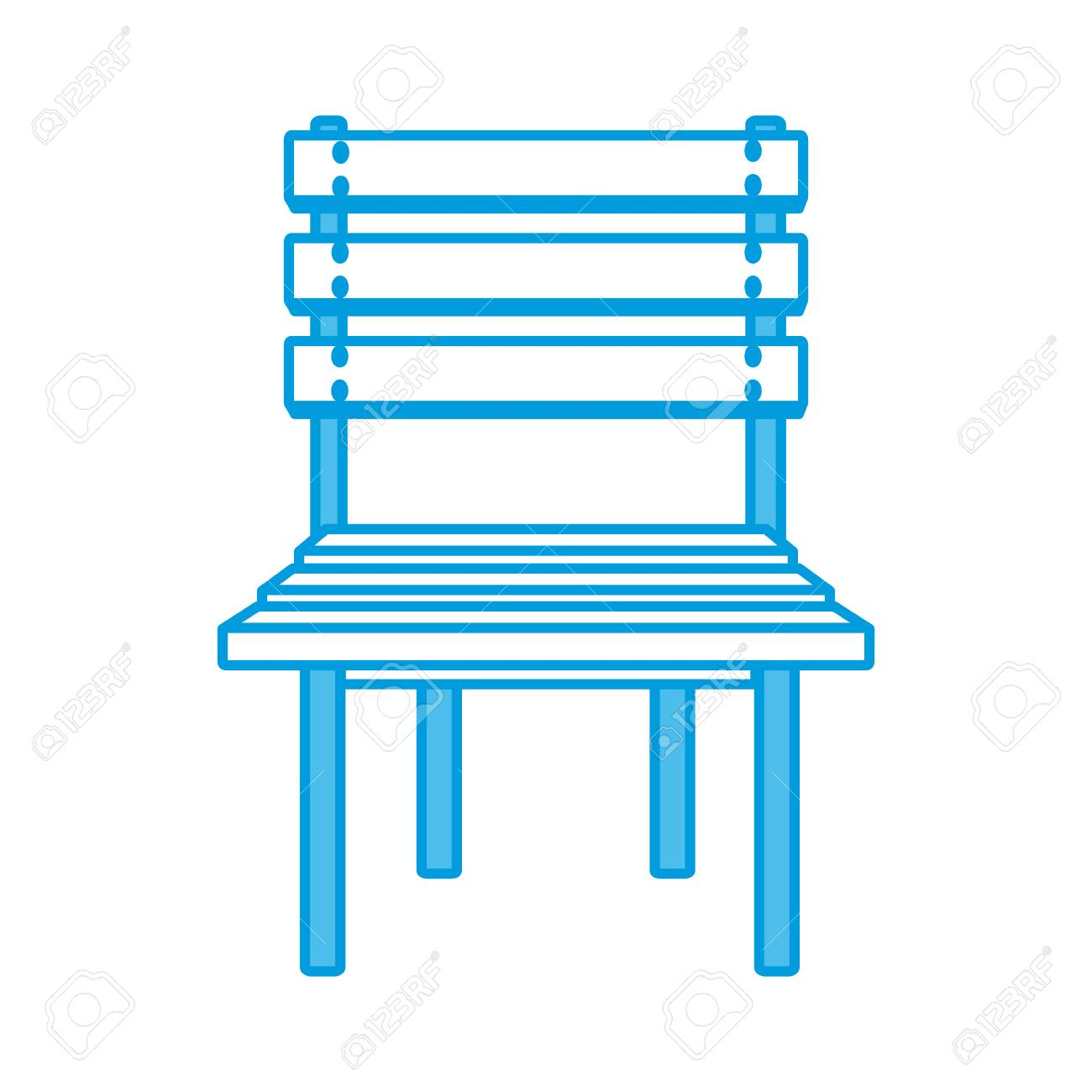 Vector wooden chair isolated icon vector illustration graphic design