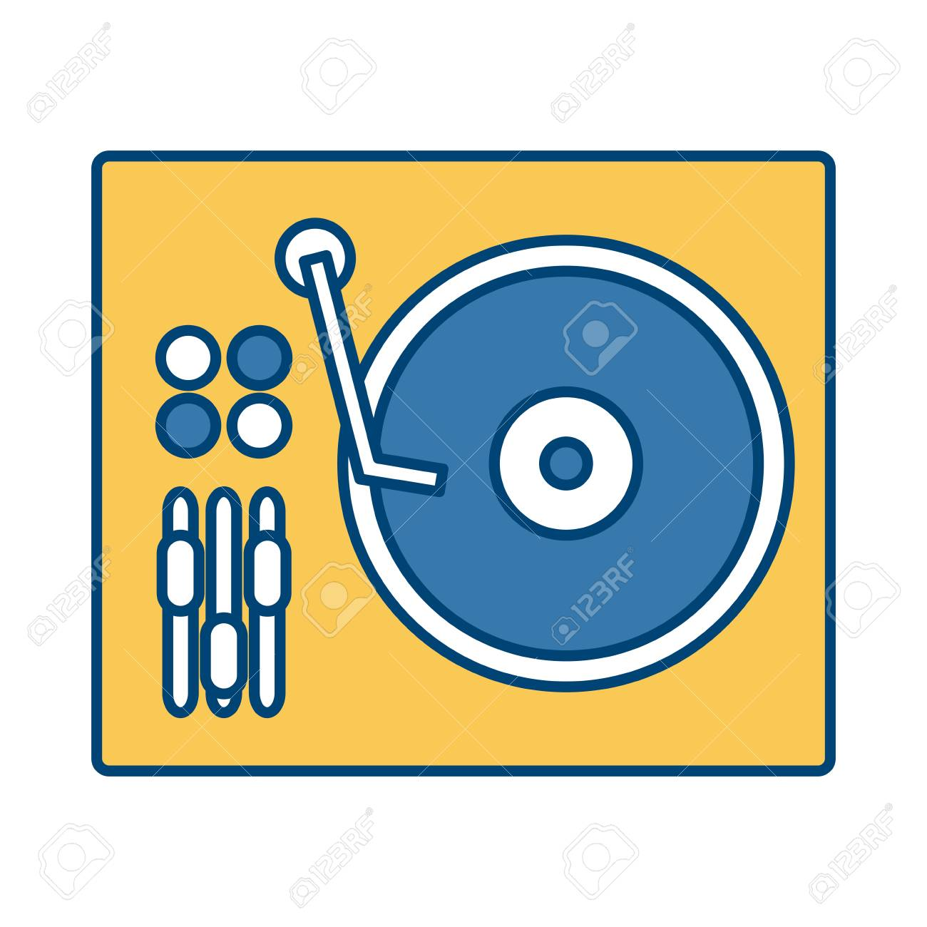 DJ turntable symbol icon vector illustration graphic design