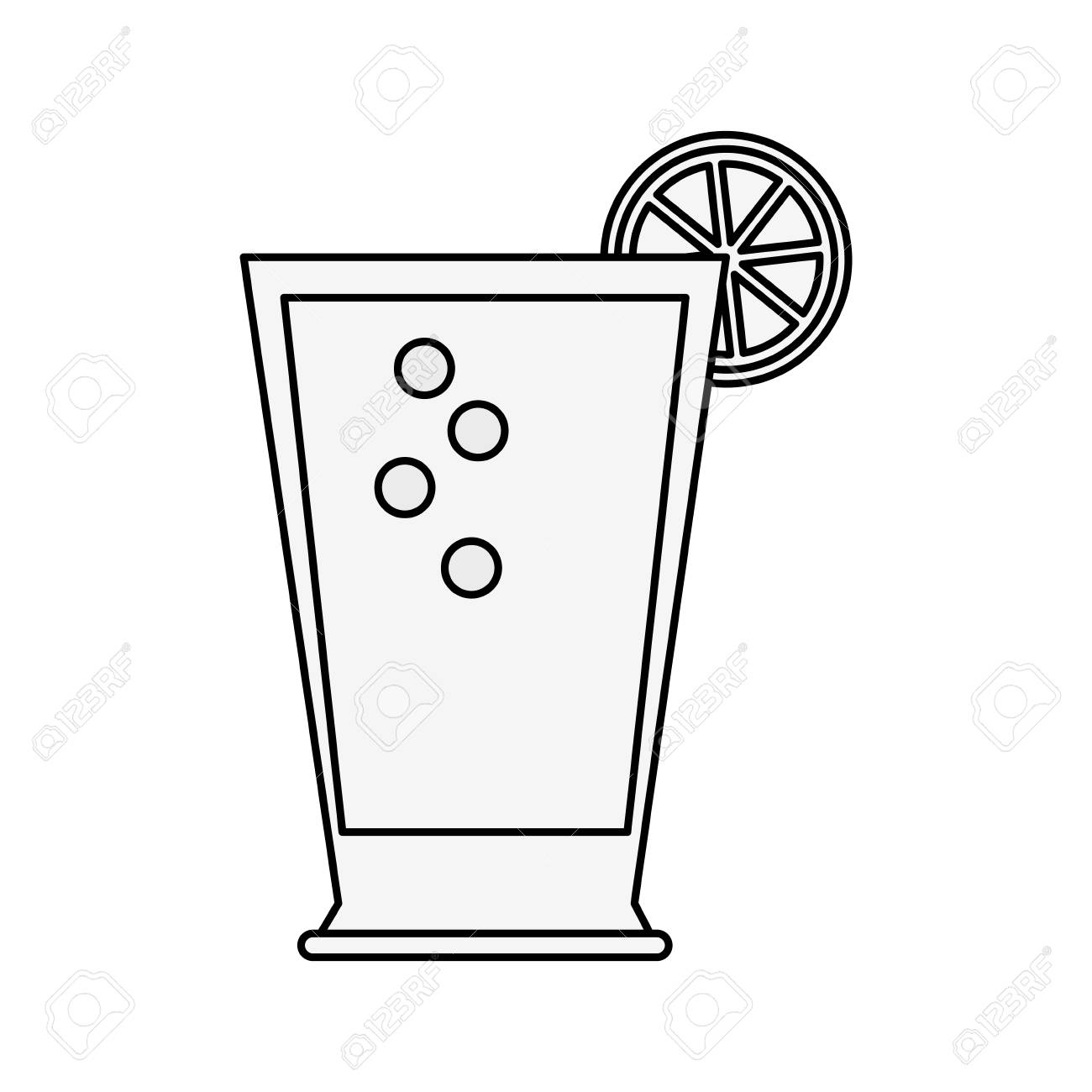 Lemonade glass cup icon vector illustration graphic design