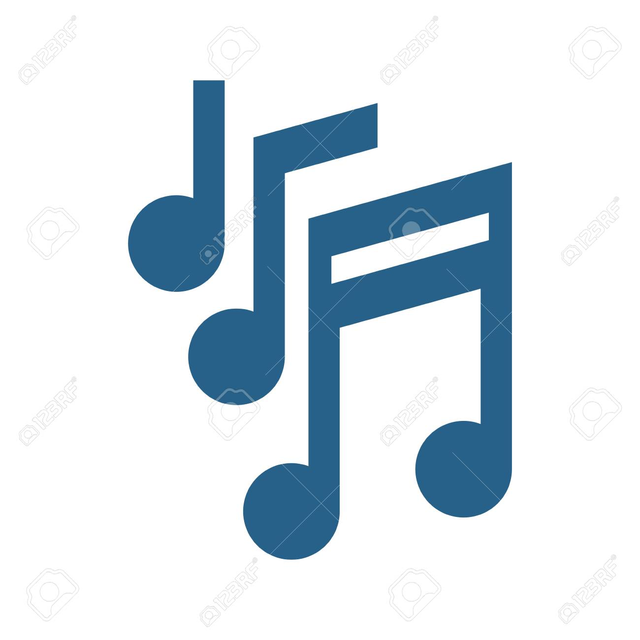 Music Notes Symbol Icon Vector Illustration Graphic Design Royalty