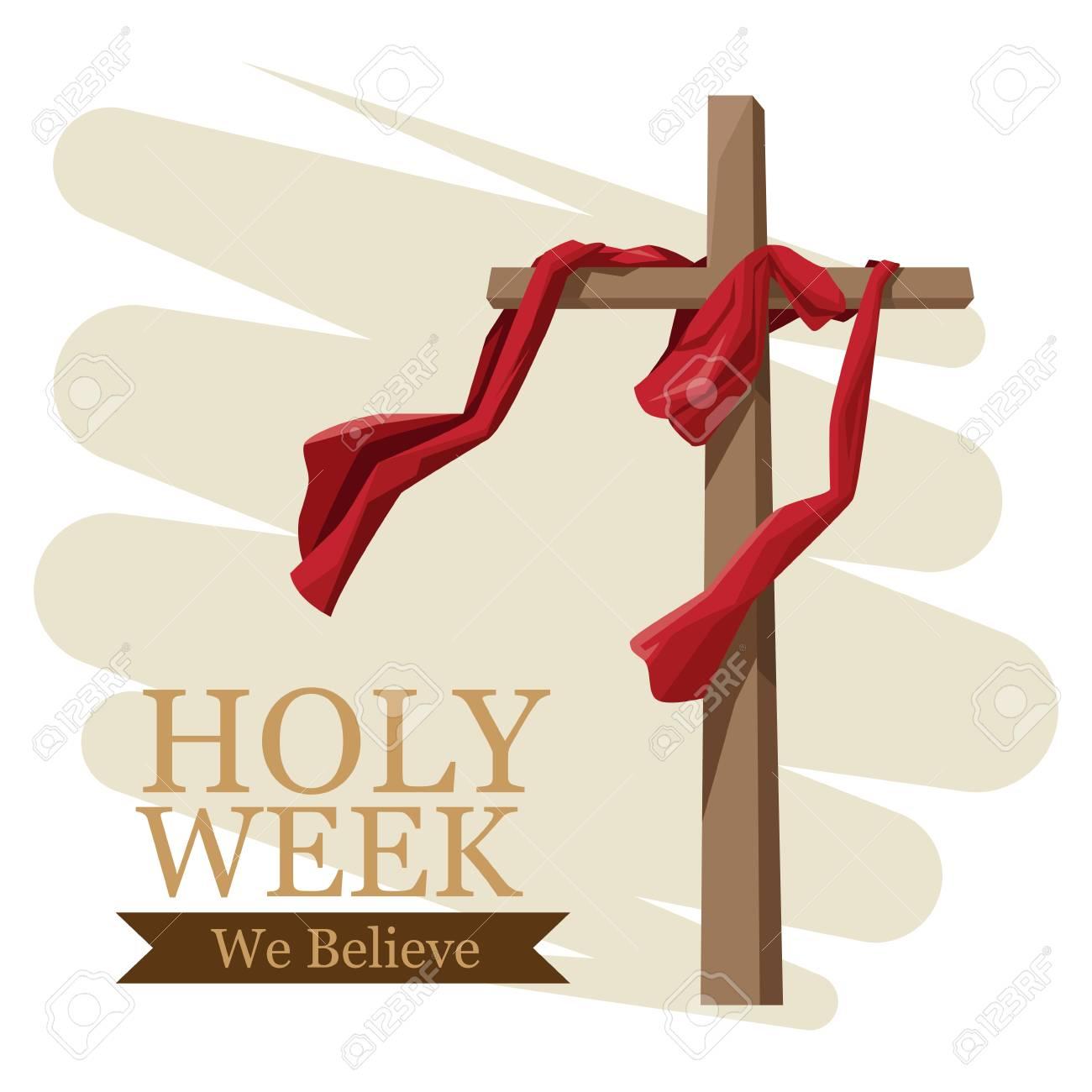 Holy week catholic tradition icon vector illustration graphic design - 94143093