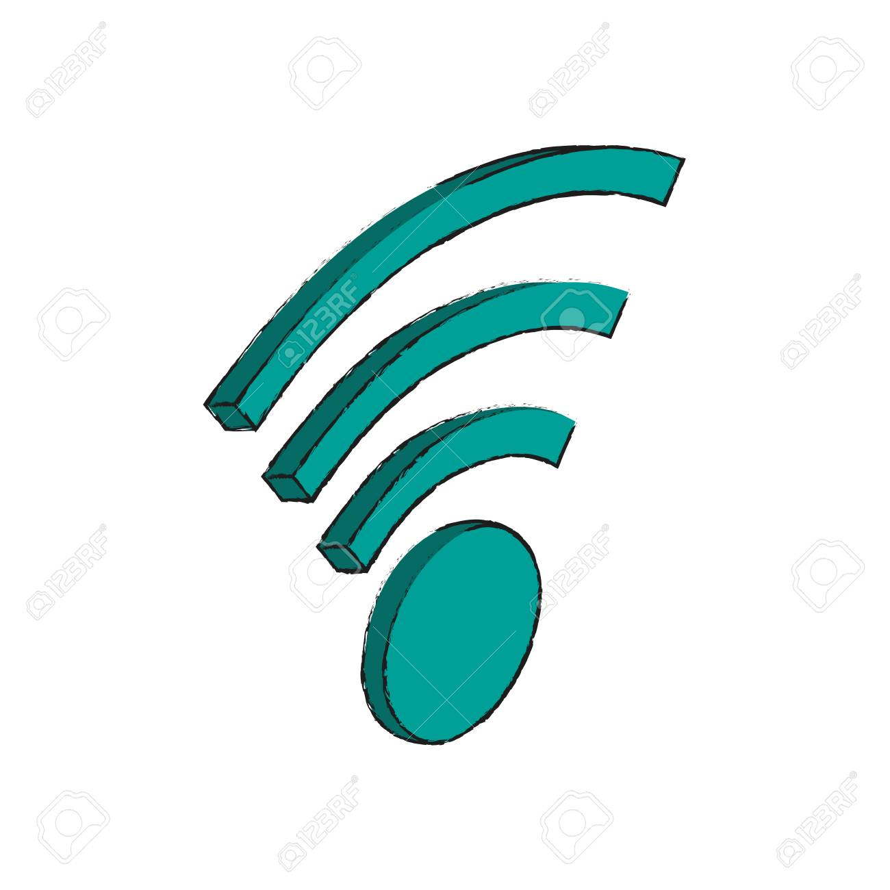 Wireless internet connection symbol icon vector illustration wireless internet connection symbol icon vector illustration graphic design stock vector 94153122 buycottarizona Images