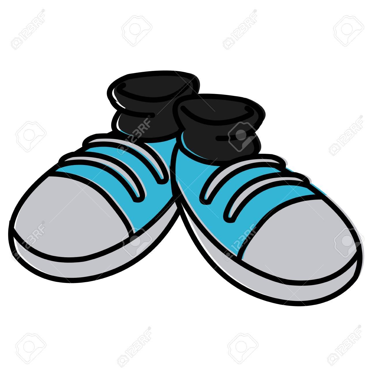 e648ec54d8aa Pair of shoes cartoon icon vector illustration graphic design Stock Vector  - 94217874